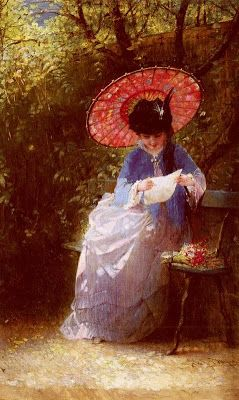 IMAGINA Y CREA: Woman with a parasol, paintings