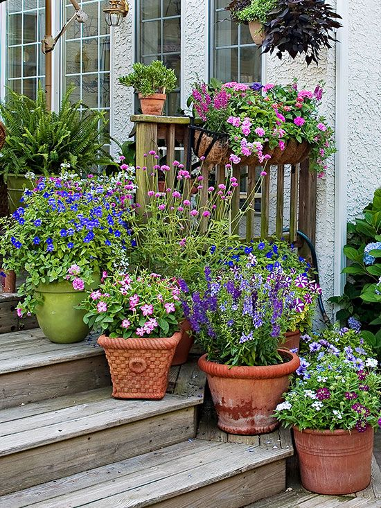 how to group container gardens together gardens