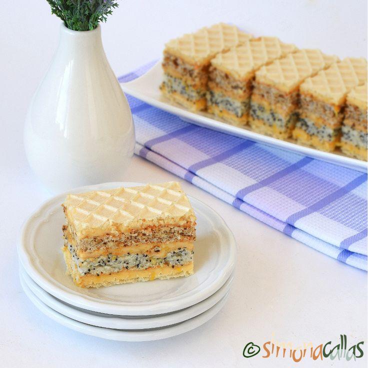 Prajitura Furnicuta o prăjitură de casă deosebită, delicioasă şi de mare efect care se compune din: foaie de napolitană, blat cu mac şi blat cu nucă...