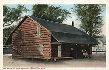 Log Cabin at Fair Grounds Charlotte MI Mich Michigan Postcard
