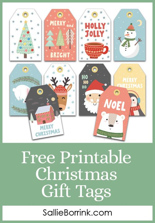 Free Printable Christmas Gift Tags for your family to use this holiday season! T…