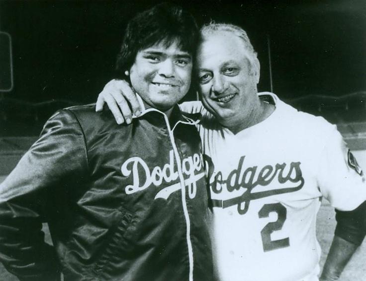 Fernando Valenzuela and Tommy Lasorda