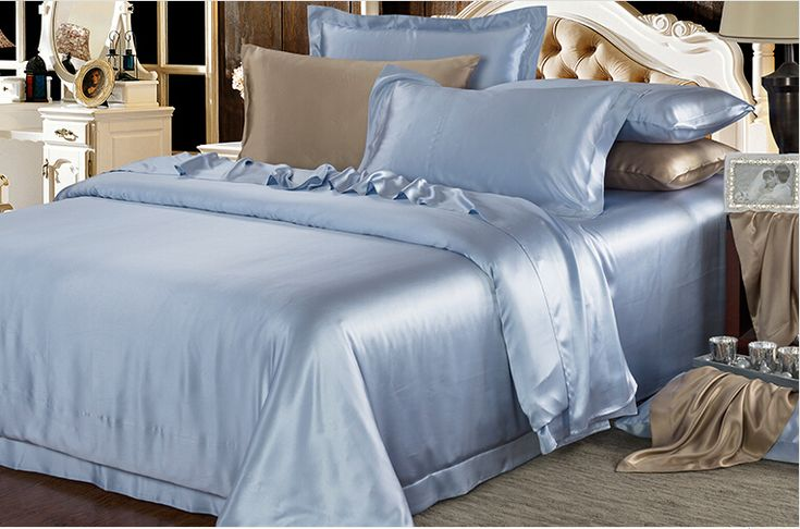 Wonderful Cheap King Size Bed Blue Sheets Set