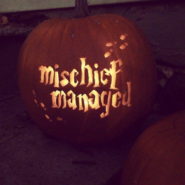 Mischief managed Jack-o-Lantern