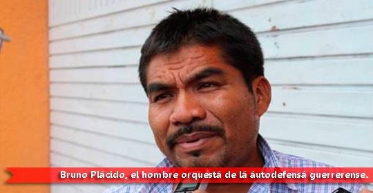 """AYUTLA DE LOS LIBRE, Gro. / 1 de marzo.  Irza * El dirigente de la Unión de Pueblos y Organizaciones del Estado de Guerrero (UPOEG), Bruno Plácido Valerio, rechazó las declaraciones del Comandante de la Novena Región Militar, el general Genaro Lozano Espinoza, quien afirmó en Acapulco el pasado miércoles que detrás de los movimientos de autodefensa """"hay una mano que mueve la cuna"""", y anunció que hoy sábado marcharán en Ayutla de los Libres..."""