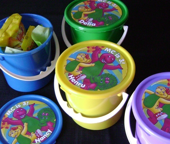 Barney Party Favour Buckets