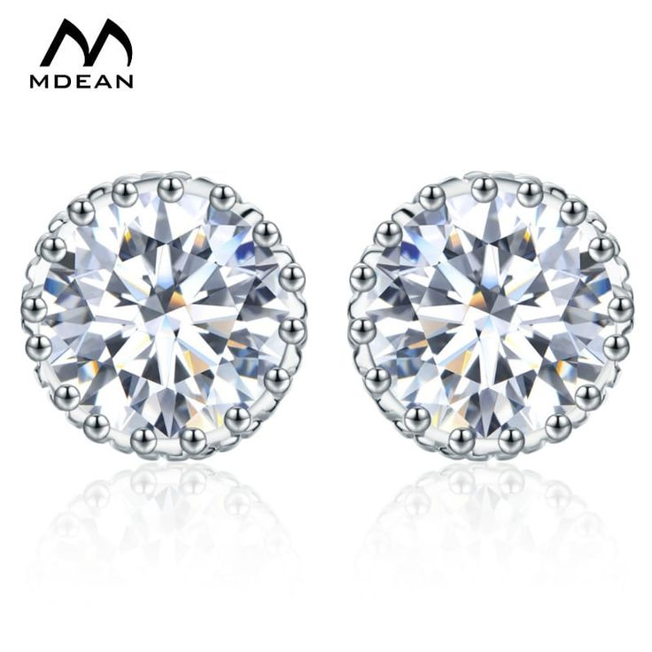 MDEAN Crown Studded Earrings Fashion White Gold Colored //Price: $10.95 & FREE Shipping //     #fashion