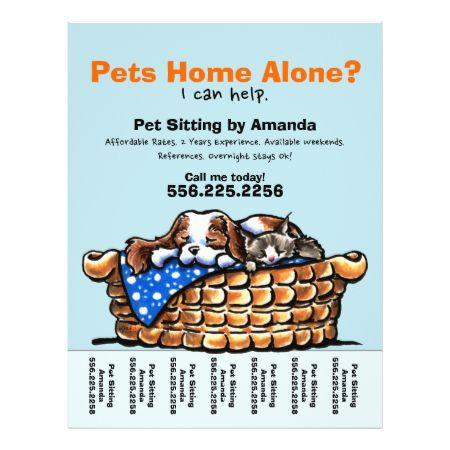 Pet Sitter Sitting Personalized Tear Sheet Custom Flyer