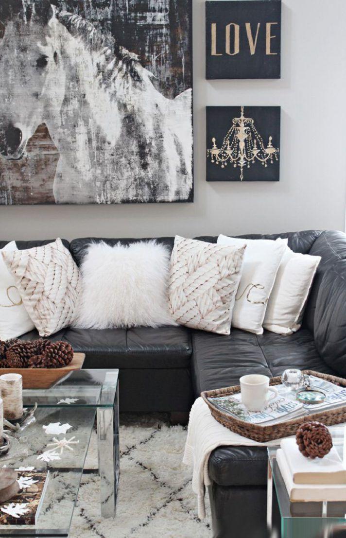Enchanting Rustic Glam Living Room Decor Black Letter L Sofa