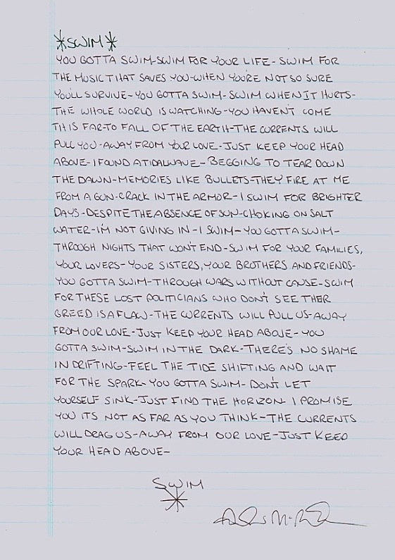 Swim; Jack's Mannequin, This song means so much to me
