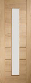 Internal Door Oak Palermo with Clear Glass