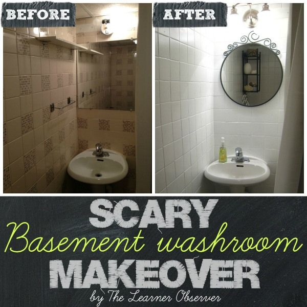 Basement Bathroom Makeover from The Learner Observer: Basement Washroom, Diy Home Decor, Bathroom Makeovers, Home Decor Ideas, Bathroom Ideas, Learner Observer, Washroom Makeover, 25 Diy