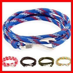 Alibaba Wholesale Fashion Colorful Wrap Bracelet With Zinc Alloy Hook Clasp Unisex Cheap Rope Bracelet #Affiliate