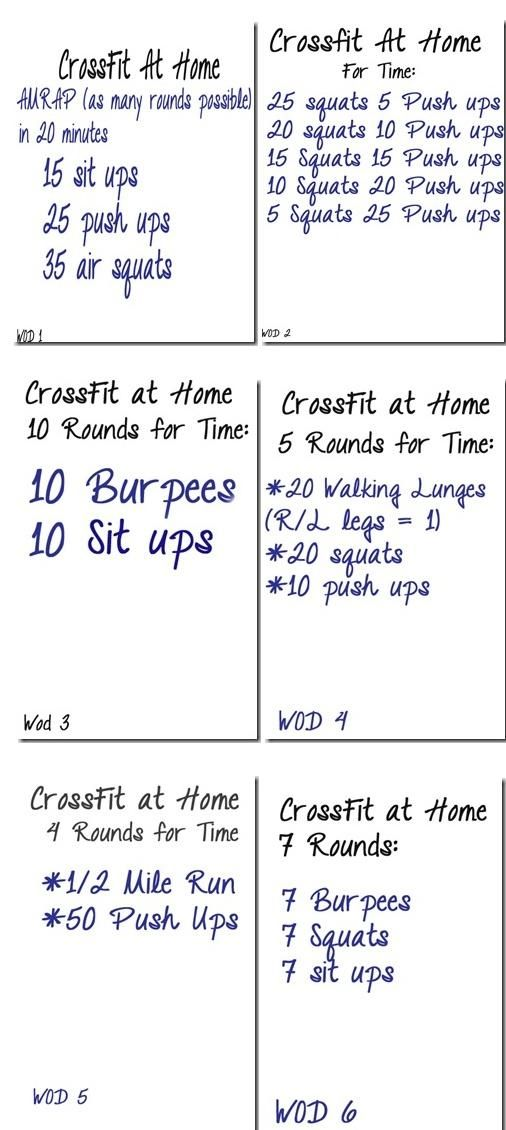 6 Crossfit workouts when you're at home or traveling