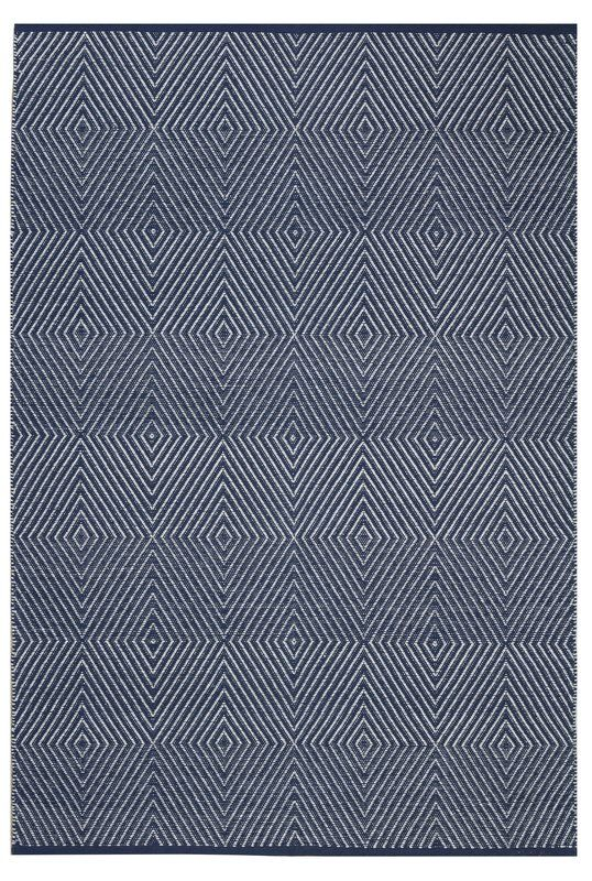 Criswell Hand Woven Cotton Dark Blue Area Rug Weave In