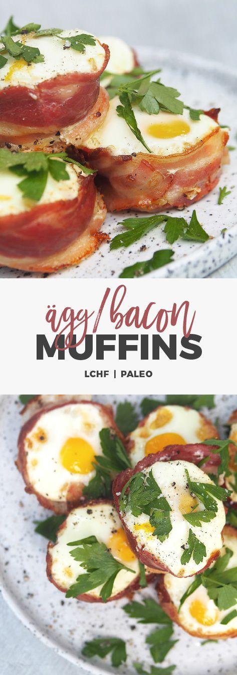 Recept: Ägg & bacon-muffins. Smidiga frukostmuffins. LCHF & Paleo