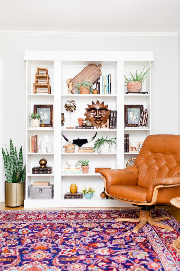how to make ikea bookshelves look not ikea. Awesome DIY and great bookshelf styling ideas.  Claire Brody Designs