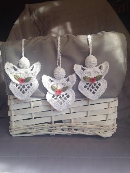 Crochet Angel Set of 3 Angels / Christmas Angel / by CRGift