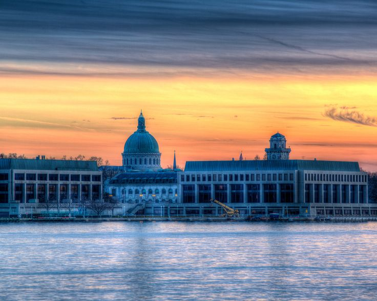 Naval Academy Chapel At Sunset, #annapolis, #maryland