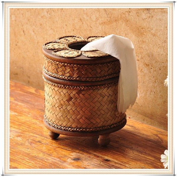 Nouveau arrivent! Thaïlande Style vintage tricot à la main support papier de bambou siège type rouleau papier de filtres à tissu creative serviette dans Boîtes à Mouchoirs de Maison & Jardin sur AliExpress.com | Alibaba Group