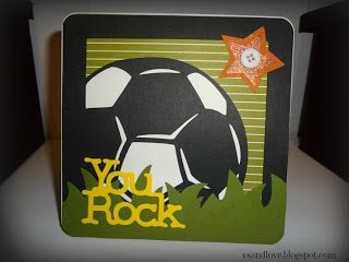 Craft, Scrap, and Love On!: Soccer Card