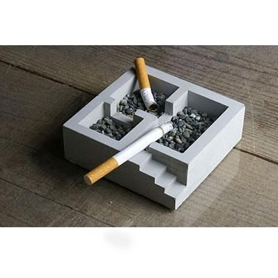 i dont smoke but cool idea with concrete