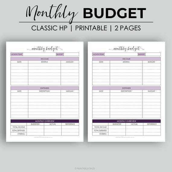 Pin On Budgeting Money Blank budget worksheet