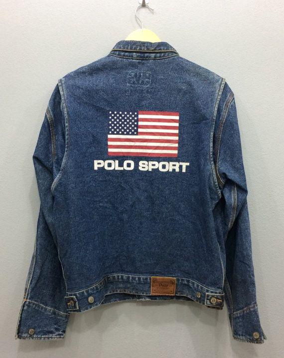 Vintage Rare Polo Sport Ralph Lauren Denim by VintageApparelSGoods