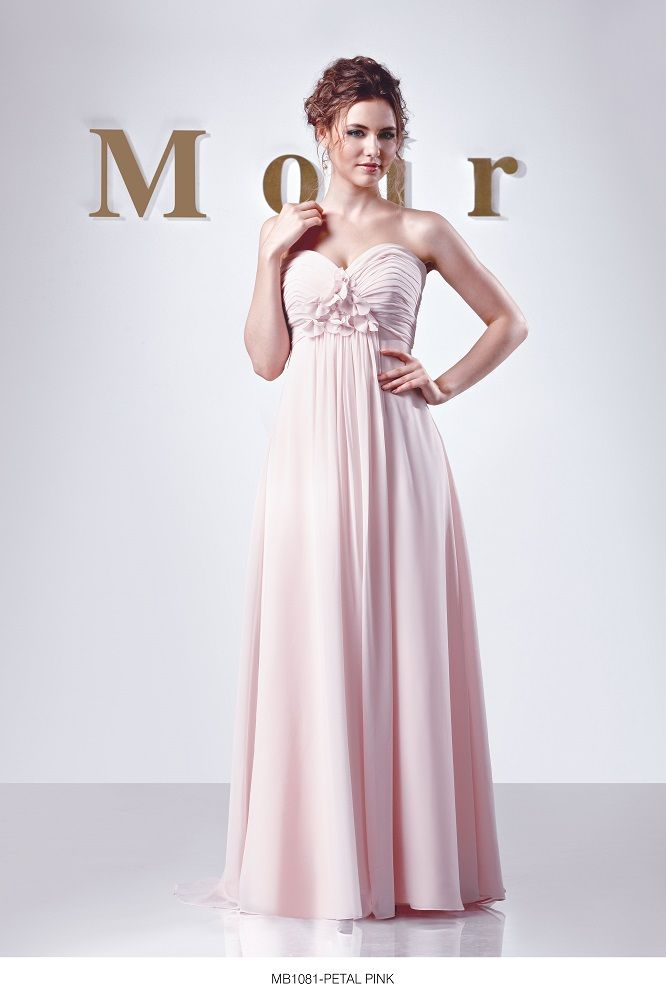 Moir #Bridesmaid Style MB1081 shown in Petal Pink Chiffon