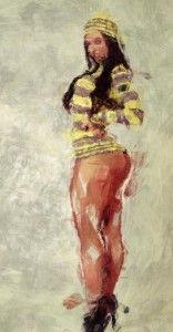 Striped sexy, Women, Girl, Digital painting, sketch