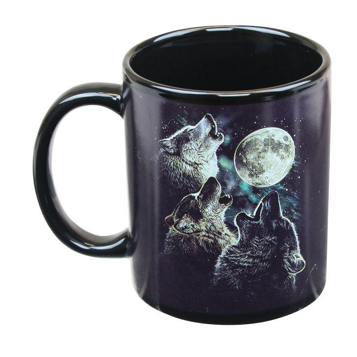 Just Funky Three Wolf Moon 11oz Coffee Mug, Multi-Colored