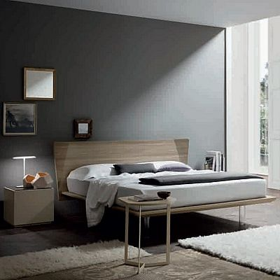 Contemporary, elegant 'Stonem' bed by Orme