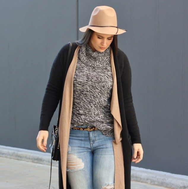 Winter Layering style tips for curves by plus size blogger Ashley