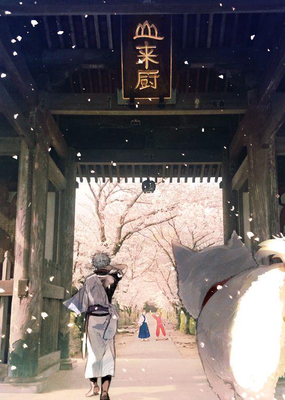 Gintama Yorozuya - Gintoki, Shinpachi, Kagura & Sadaharu - So pretty!!
