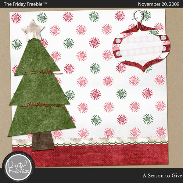 A Season to Give - Digital Scrapbooking Freebie