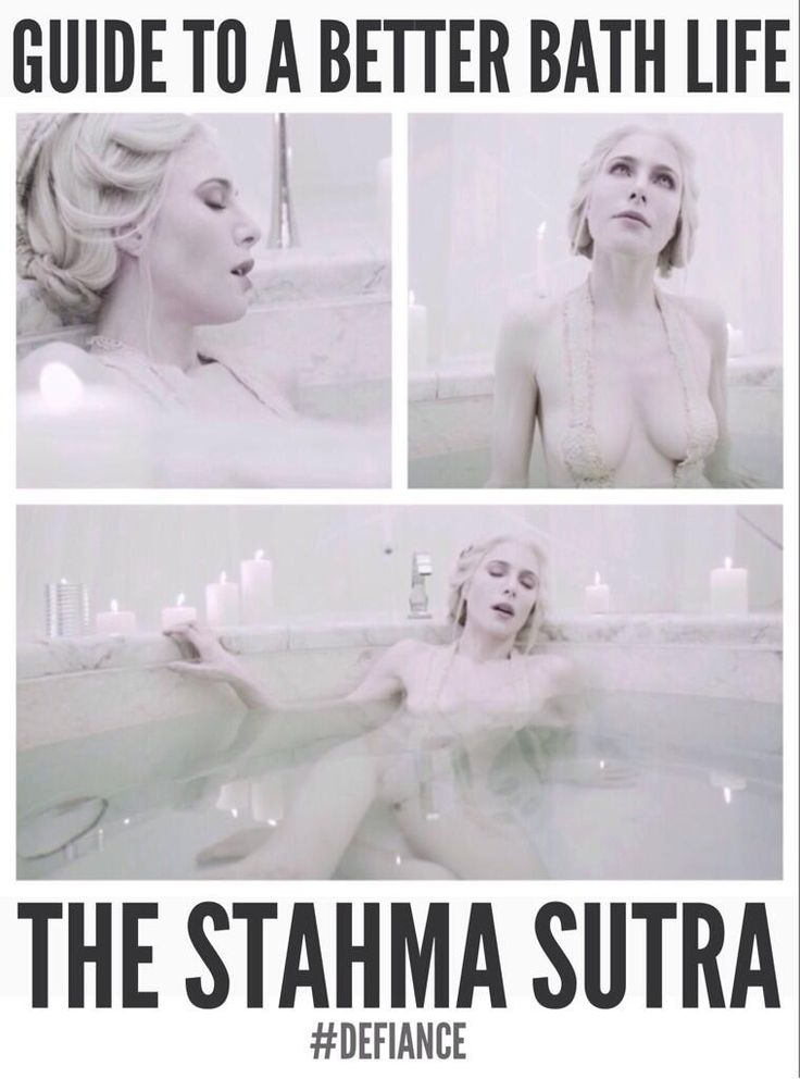 @Women of Defiance: .@DefianceWorld and @Jaime Murray give insight into a better bath life... Stahma Sutra style. #Defiance