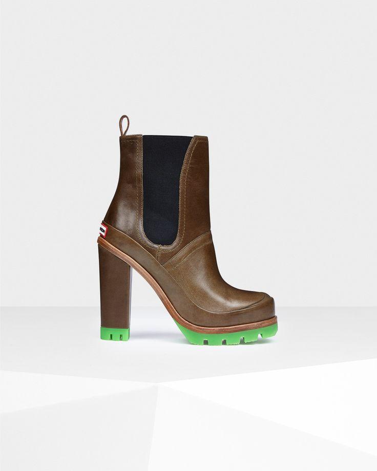 Hunter UK | Women's Original Neon High Heel Chelsea Boots | Official Site