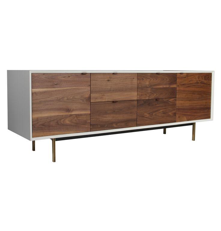 Konrad 4 Drawer 2 Door Cabinet - Matt Blatt