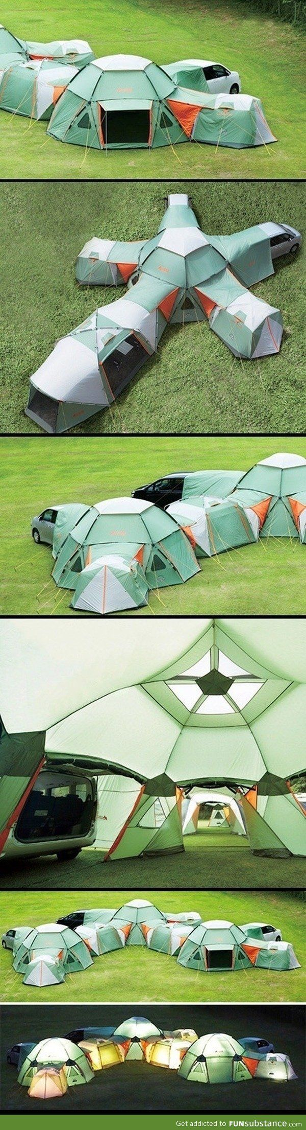 Wow - now thats a BIG tent! I wonder how ling it takes to put up. POssibly a good idea for a cafe inside?