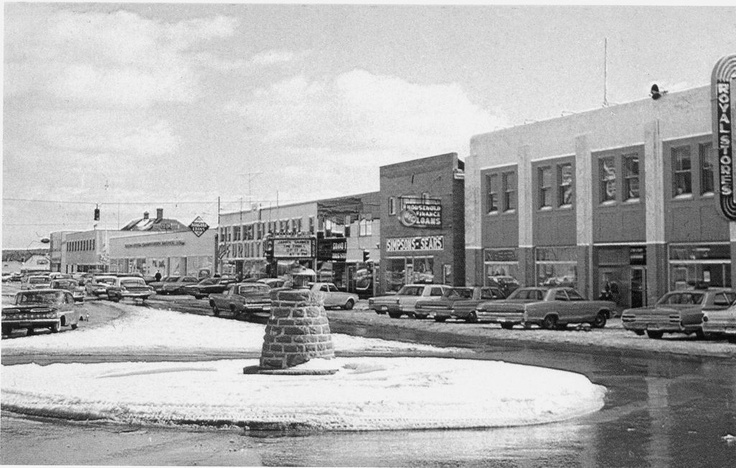 FLASHBACK FRIDAY: The Roundabout High Street, Grand Falls-Windsor! ...credit to Grand Falls Windsor Heritage Society. Mid 1900s