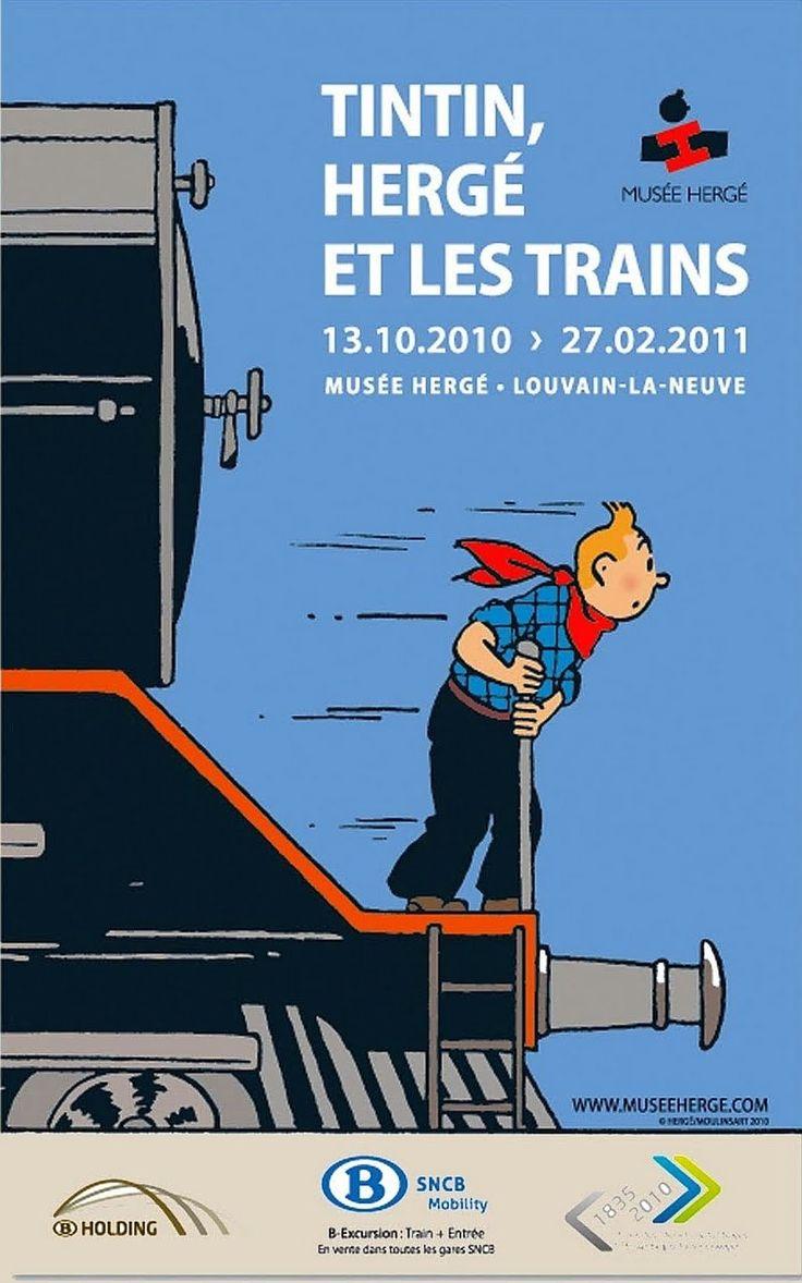 Hergé - Georges Prosper Remi (1907 – 1983). Tintin, Hergé et les Trains. [Pinned 16-vi-2015]
