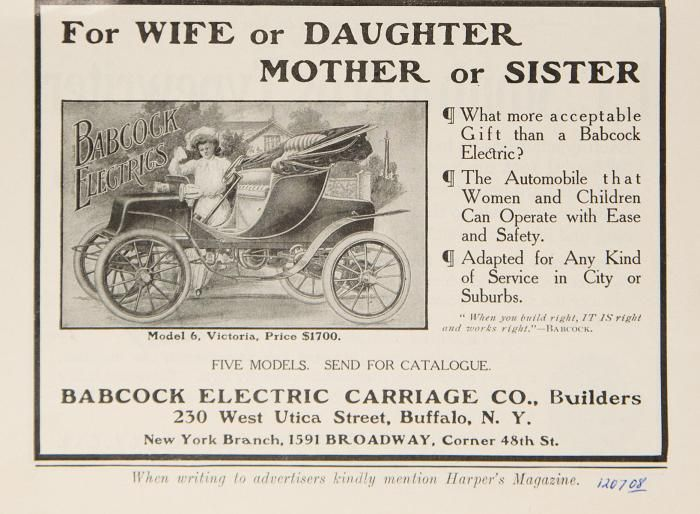 Best Images About Babcock Electric Car Ads On Pinterest