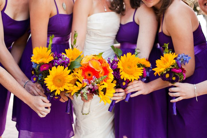 Purple yellow wedding with fringe banners and succulent bouquets eclectic diy purple and yellow wedding wedding pinterest mightylinksfo
