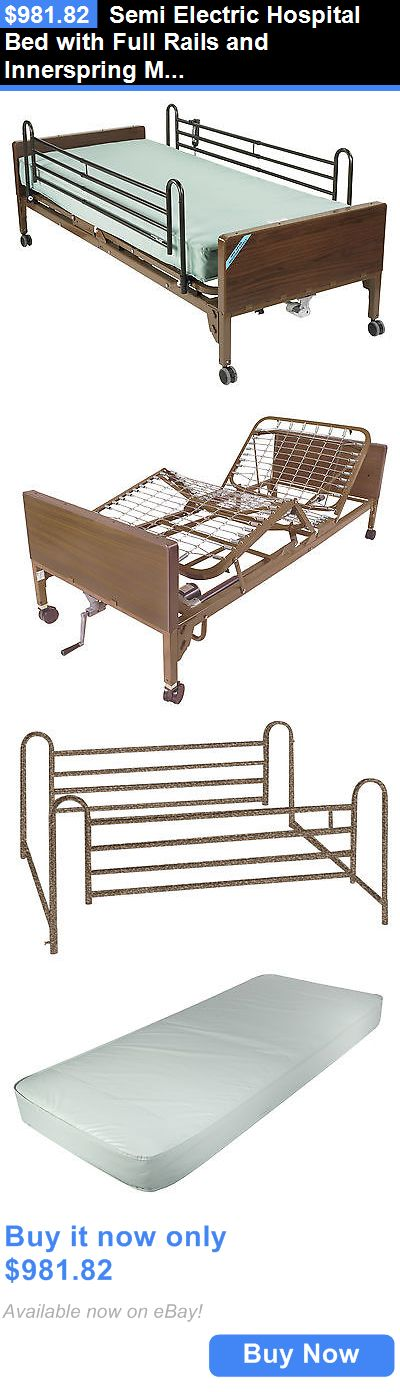 Bed and Chair Tables: Semi Electric Hospital Bed With Full Rails And Innerspring Mattress BUY IT NOW ONLY: $981.82