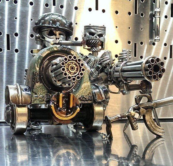Kreative moderne Metallskulpturen-3