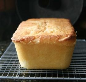 """VANILLA POUND CAKE ½ cup (1 stick) softened butter, may substitute with 1 stick """"I Can't Believe It's Not Butter"""" 1½ cups sugar 3 large eggs, room tem 1½ cups White Lily all-purpose flour, or Swans Down cake flour ¼ t salt 1/8 t baking soda ½ cup buttermilk, room temp 1 t vanilla"""