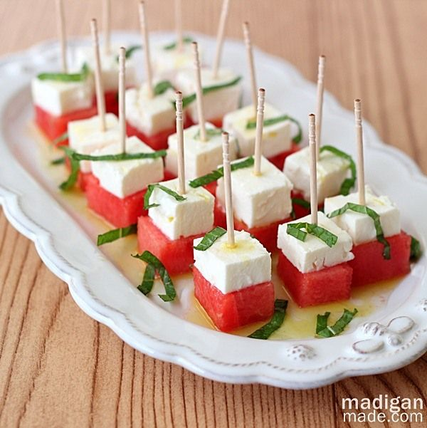 Watermelon, Feta and Mint Salad Bites