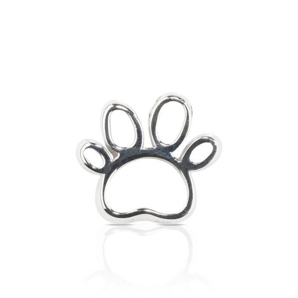 Dog themed Jewellery - Open Paw Pendant sterling silver
