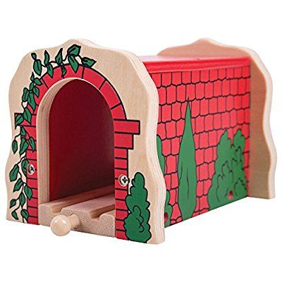 Bigjigs Rail Wooden Red Brick Tunnel - Other Major Rail Brands are Compatible, Play Tunnels - Amazon Canada
