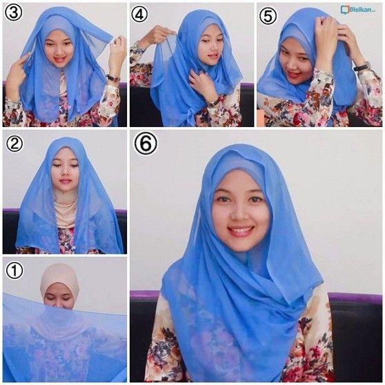jilbab segi empat mudah